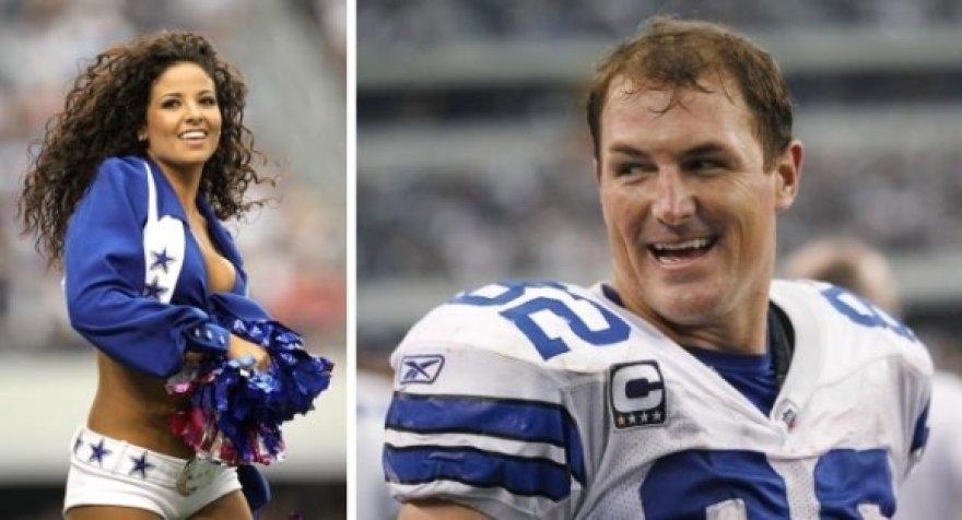 """Jasonas Wittenas ir """"Cowboys"""" palaikymo grupės šokėja"""