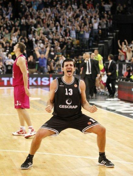 Triumfuojantis Bilbao klubo krepšininkas Marko Baničius