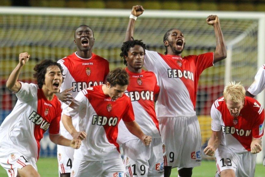 "Džiūgaujantys ""Monaco"" futbolininkai"