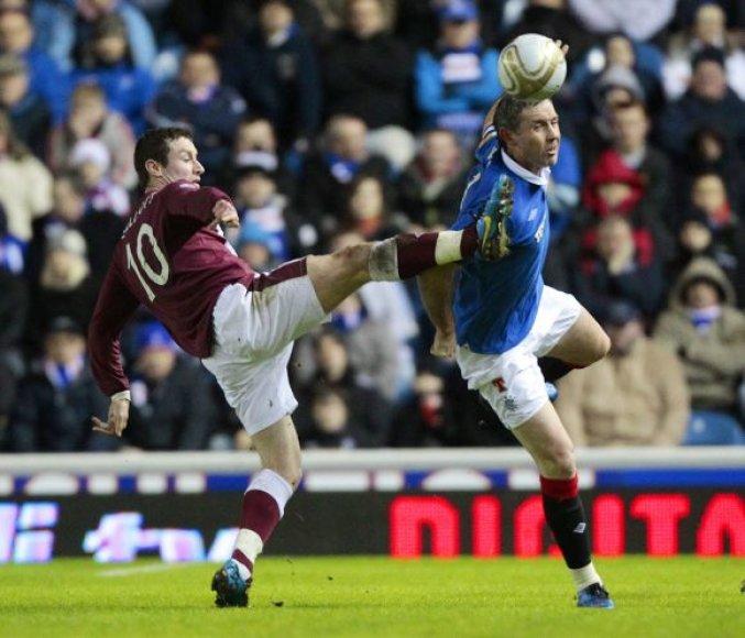 """Rangers"" – ""Hearts"" rungtynių akimirka"