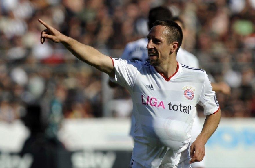 """Frankas Ribery (Miuncheno """"Bayern"""")"""