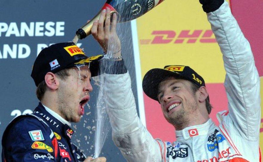 Sebastianas Vettelis ir Jensonas Buttonas