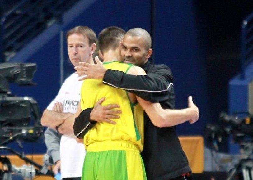 """""""Eurobasket 2011"""" žvaigždės – T.Parkeris ir Š.Jasikevičius"""