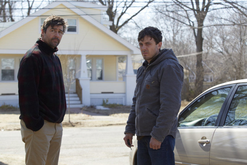 """Kad/Kyle'as Chandleris ir Casey Affleckas filme """"Mančesteris prie jūros"""""""