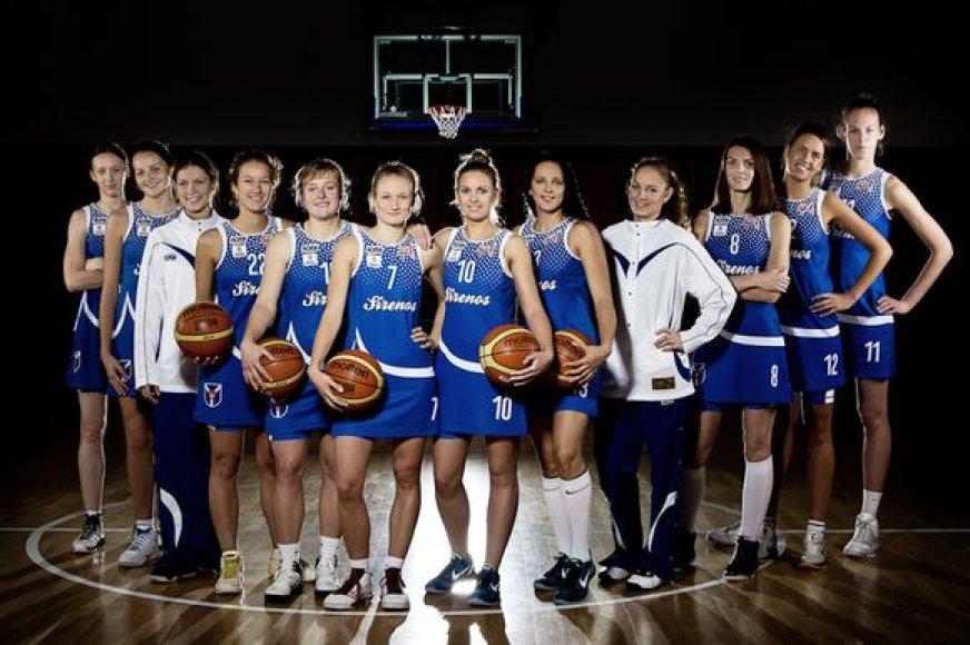 """""""Sirenų"""" krepšinio komanda."""