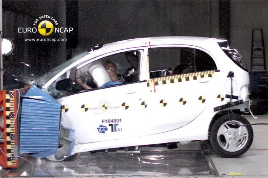 """Mitsubishi i-MiEV"" – pirmasis ""Euro NCAP"" testuotas elektromobilis"