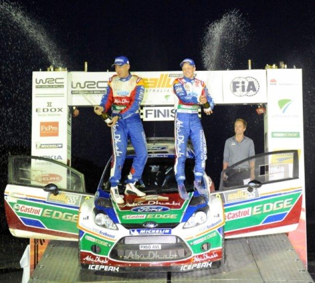 WRC Australijoje nugalėtojai: Mikko Hirvonenas ir Jarmo Lehtinenas