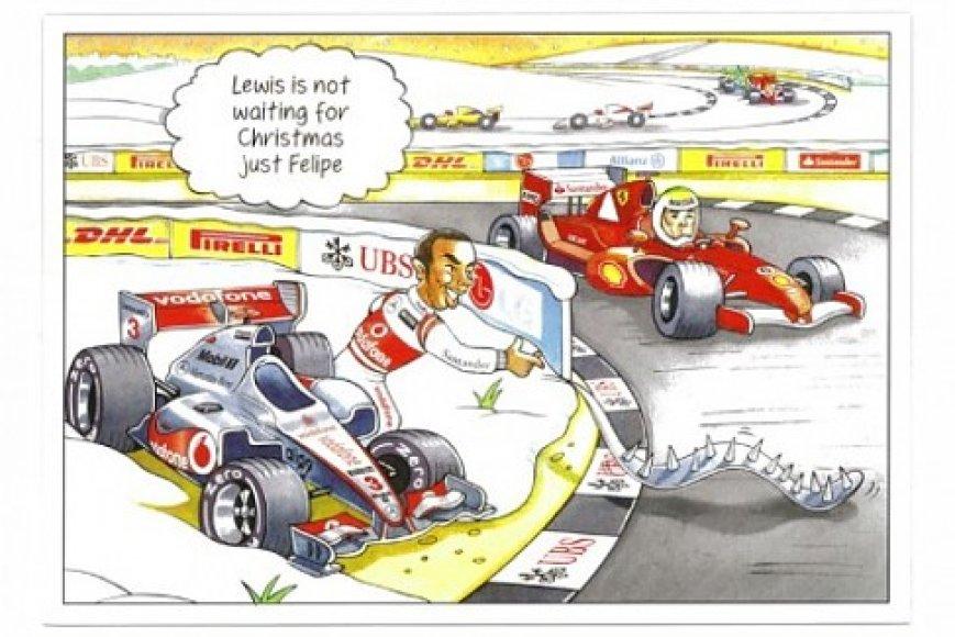 Bernie Ecclestone'o sveikinimo atvirukas