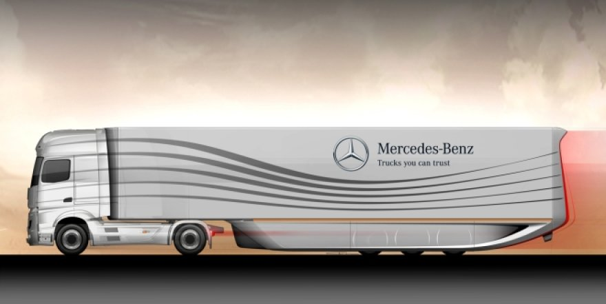 "Aerodinamiškas ""Mercedes-Benz"" vilkikas"