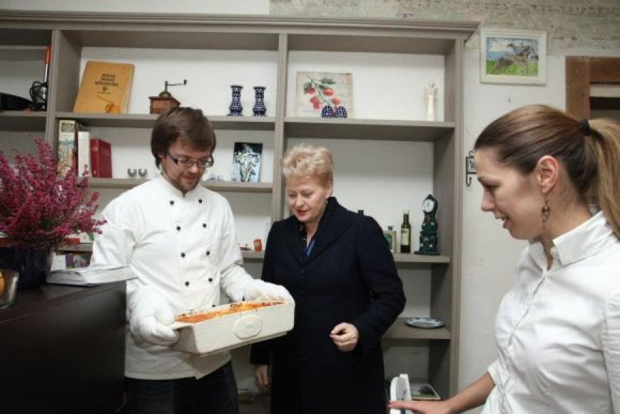 "D.Grybauskaitė restorane ""Piccolo Canopi"""