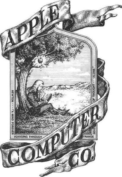 Apple pirmasis logotipas