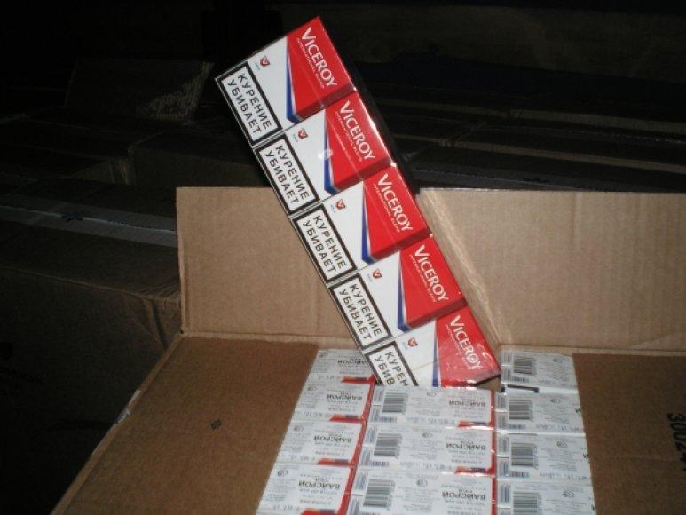 Konfiskuotos cigaretės