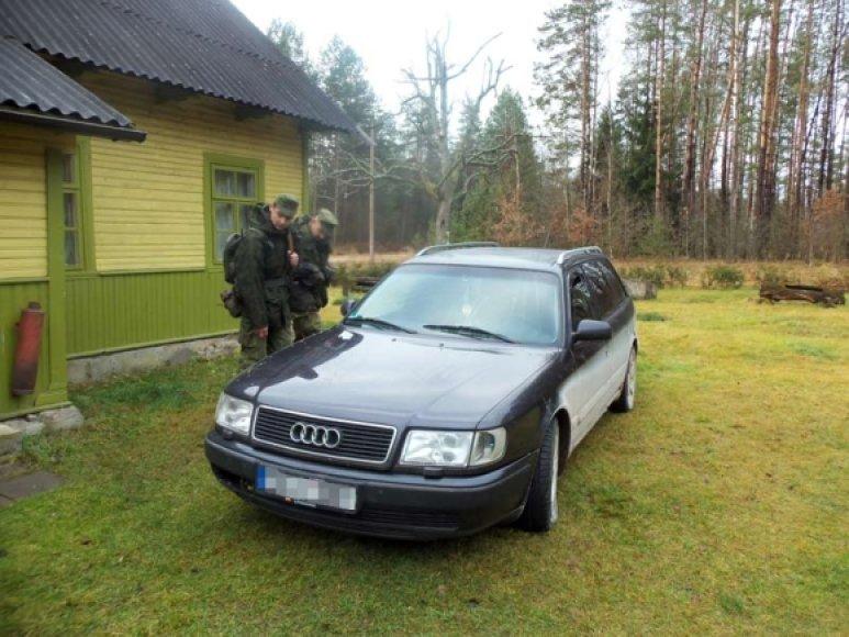VSAT pratybų metu rasta Audi