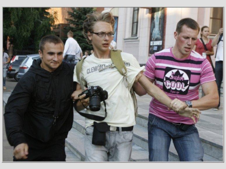 Protesto Baltarusijoje akimirka