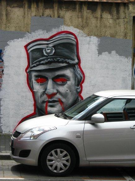 Piešinys ant Belgrado sienos