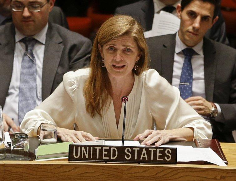 JAV pasiuntinė Jungtinėse Tautose Samantha Power