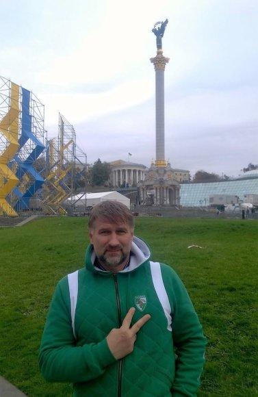 Asmeninio albumo nuotr./M.Babonas mylimai komandai siunčia linkėjimų iš Kijevo