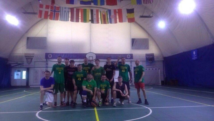 Asmeninio albumo nuotr./Ukrainos lietuvių krepšinio komanda rengiasi pasaulio lietuvių žaidynėms.