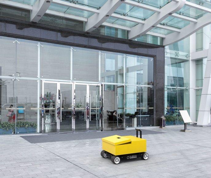 Organizatorių nuotr./Autonominis mobilus prietaisas smulkių krovinių gabenimui