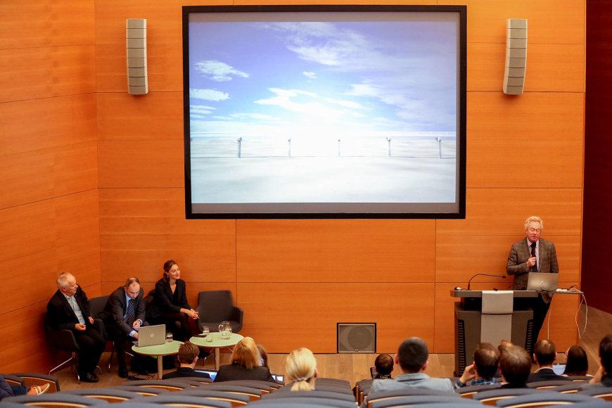 "Vidmanto Balkūno / 15min nuotr./JAV bendrovės ""Hyperloop Baltica"" projekto pristatymas"