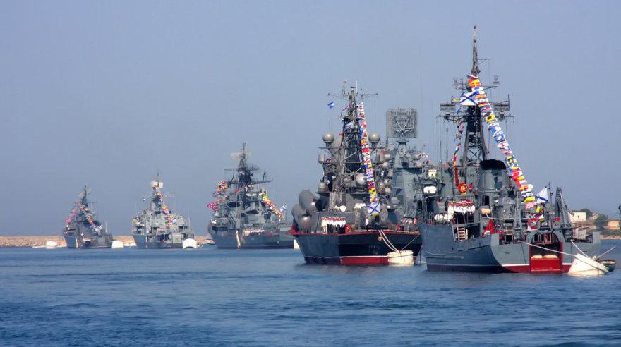 Vene Musta mere laevastik Sevastopolis.