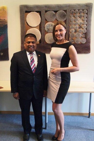 Susitikimas su Šri Lankos ambasadoriumi
