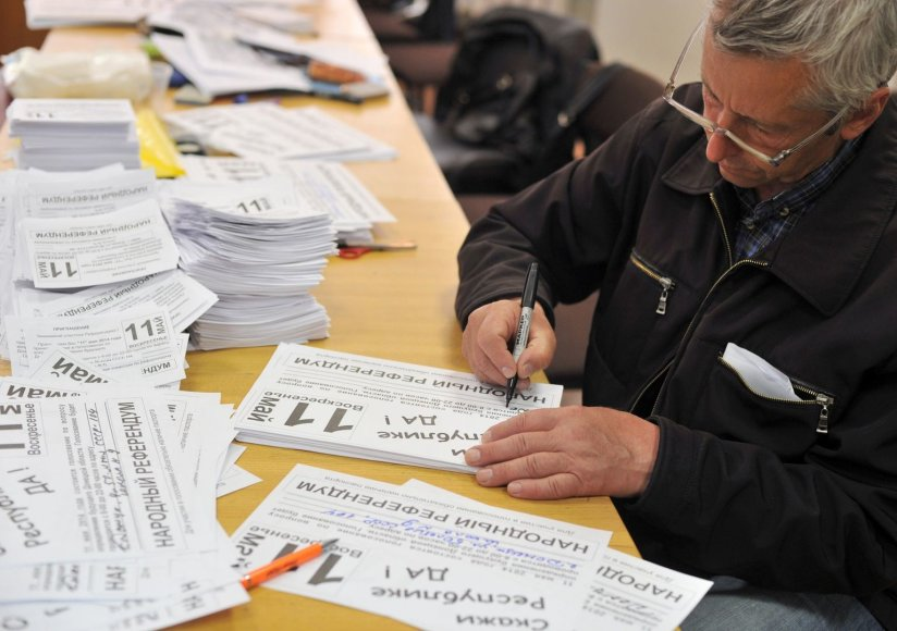 Donecke ruošiamasi referendumui