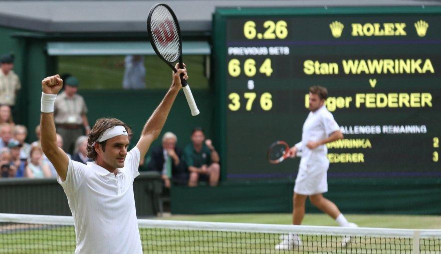 Rogeris Federeris nugalėjo Stanislasą Wawrinką