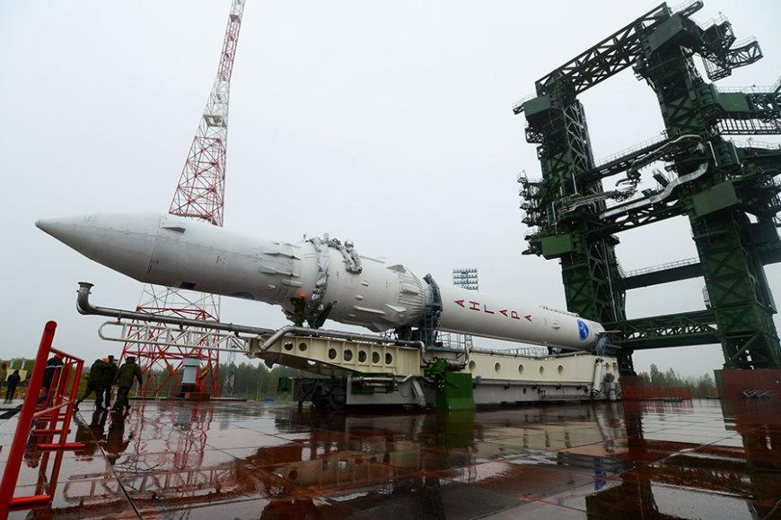 """Raketa """"Angara 1.2PP"""" ruošiama skrydžiui"""