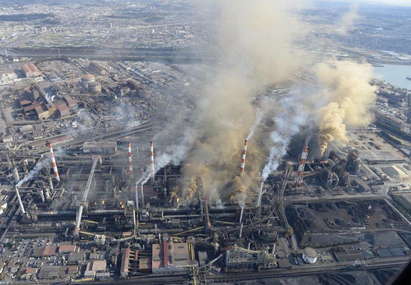 Plieno gamykla centrinėje Japonijoje
