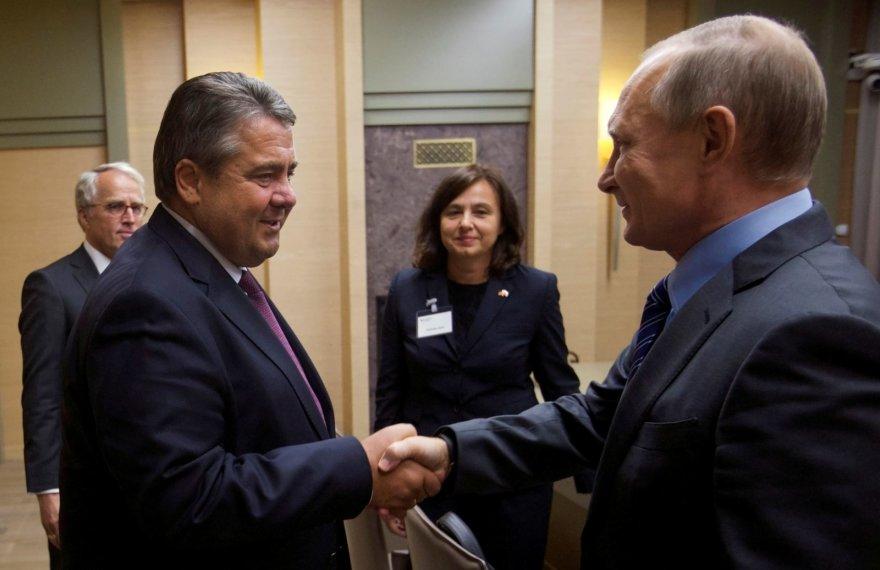 Sigmaras Gabrielis ir Vladimiras Putinas