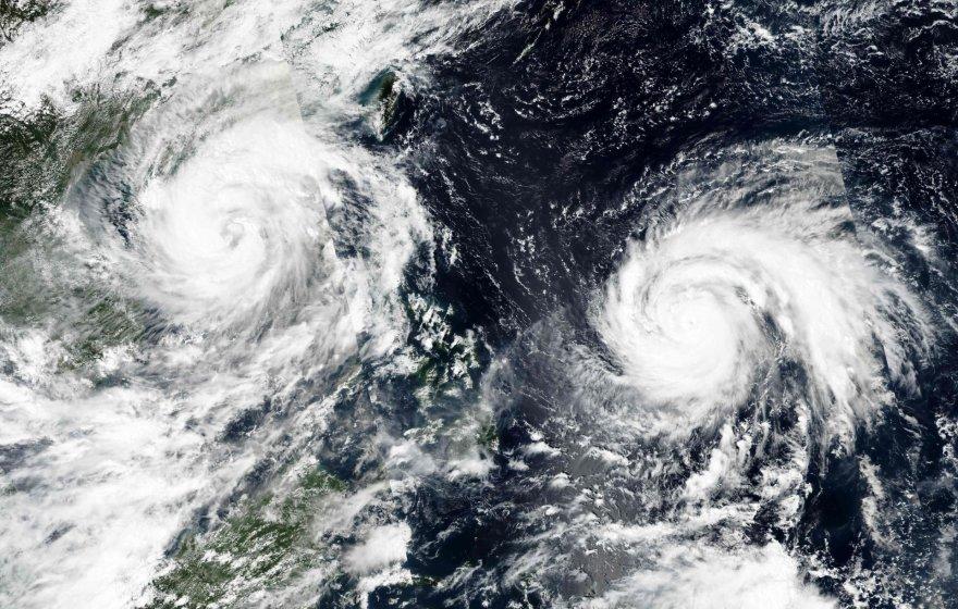 """Prie Filipinų artėja taifūnas """"Haima"""""""