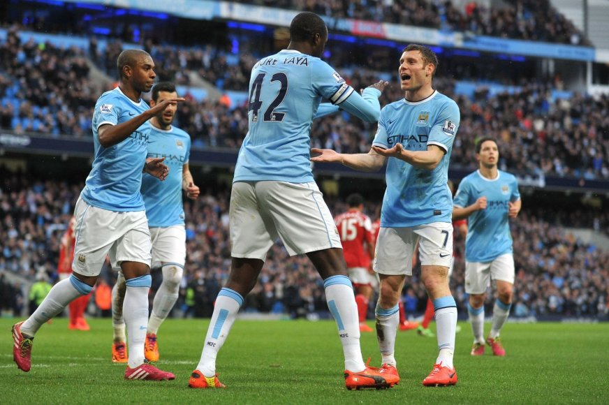 """""""Manchester City"""" futbolininkai"""