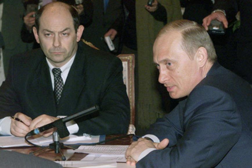 Vladimiras Rušaila ir Vladimiras Putinas
