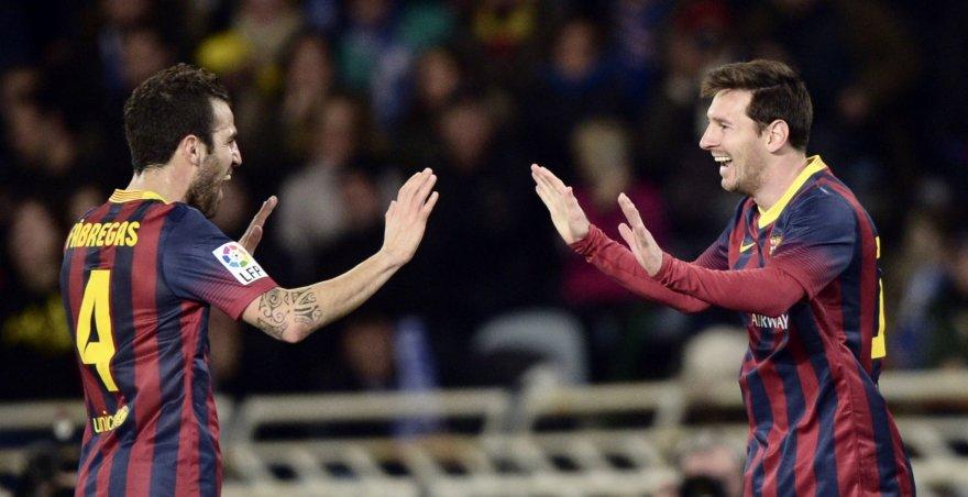 Cescas Fabregasas ir Lionelis Messi