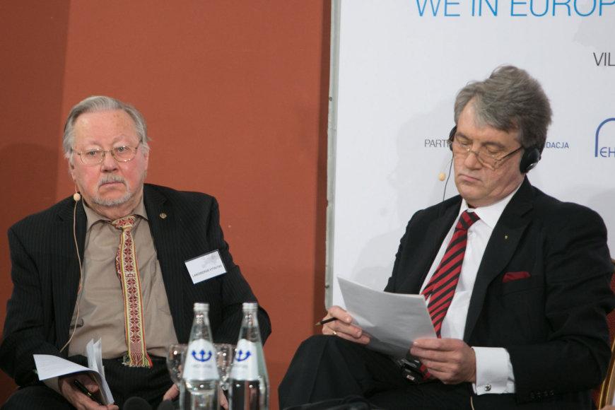 Vytautas Landsbergis ir Viktoras Juščenka