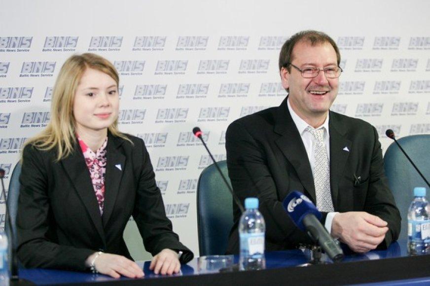 Ieva Kačinskaitė ir Viktoras Uspaskichas