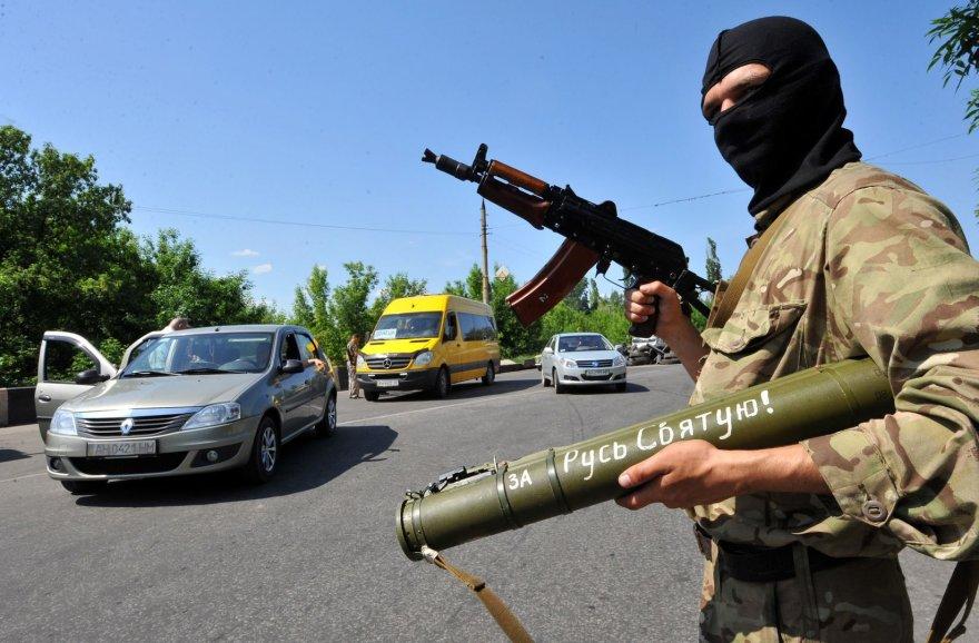Prorusų ginkluotas teroristas Kramatorske