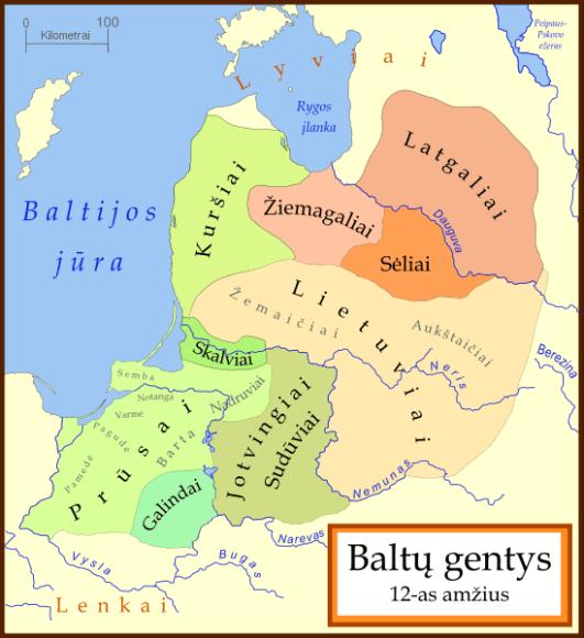 Baltų gentys XII amžiuje