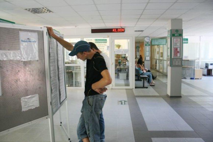 Į Klaipėdos darbo biržą kreipėsi daugiau naujų bedarbių.