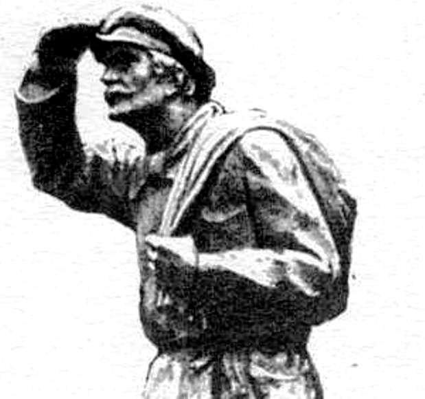 """Juozo Zikaro skulptūra """"Knygnešys"""""""