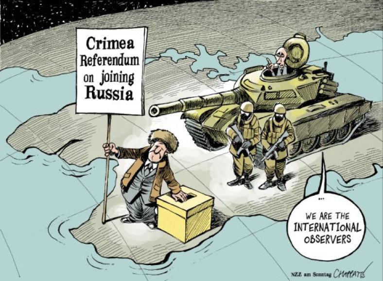 Neteisėtas referendumas dėl Krymo: pasaulio karikatūristai juokiasi