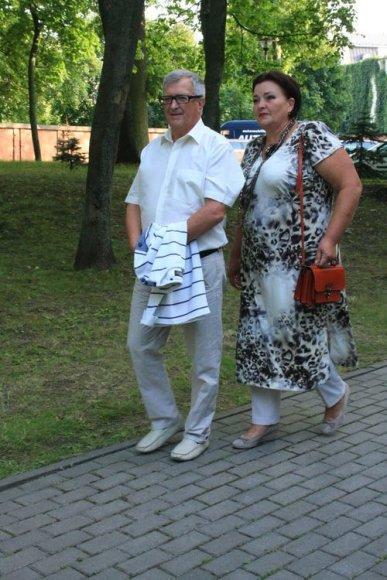 Klaipėdos tarybos narys Vladimiras Vlasovas su žmona Irina