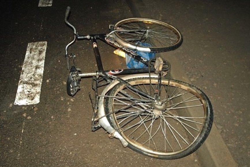 Į avariją patekęs dviratis.