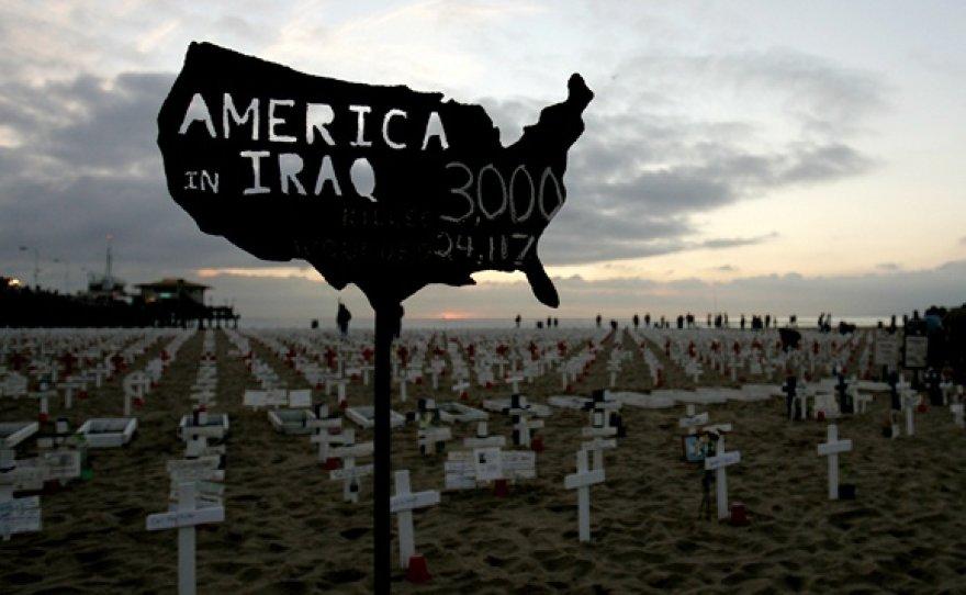 Ženklas rodo Irake žuvusių karių skaičių