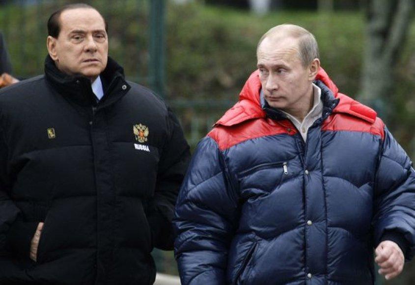 V.Putinas ir S.Berlusconi