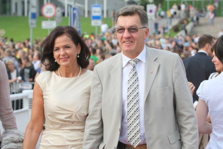 Algirdas Butkevičius su žmona Janina