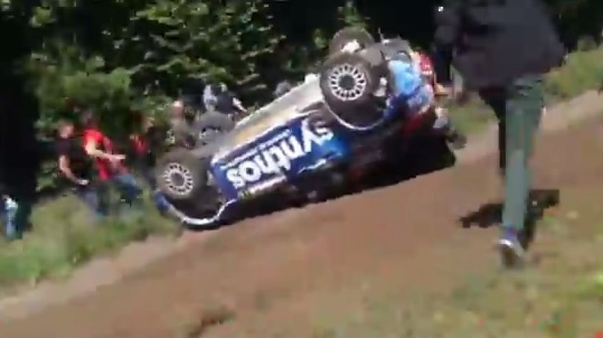 WRC avarija prie Kapčiamiesčio