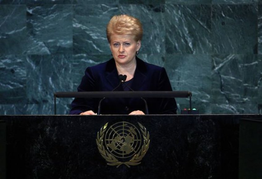Prezidentė D.Grybauskaitė JT Generalinėje asamblėjoje