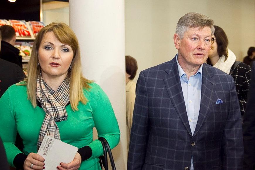 Jolanta Paulauskienė su vyru Artūru